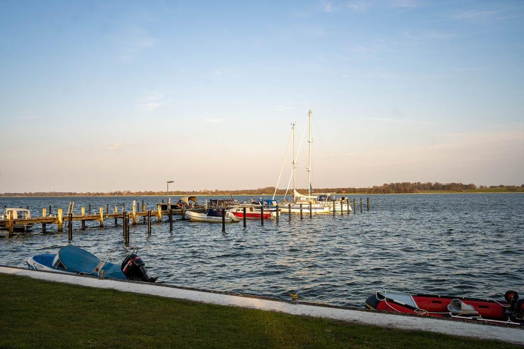 Ostseefjord Schlei mit den Booten